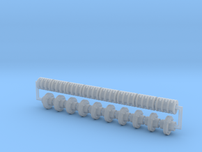 Pulley Shaft Coupler Set in Smooth Fine Detail Plastic: 1:24