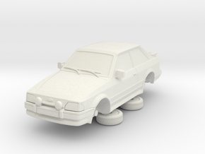 Ford Escort Mk4 1-76 2 Door Rs Turbo Hollow (repai in White Natural Versatile Plastic