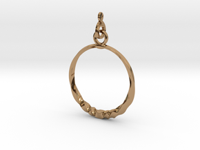 BlakOpal Twisting Hoop Earring in Polished Brass (Interlocking Parts)