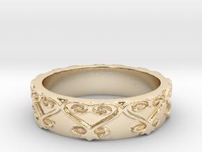 Sankofa Ring Size 7 in 14K Yellow Gold