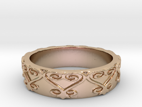 Sankofa Ring Size 7 in 14k Rose Gold Plated Brass