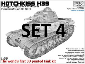 ETS35X01 Hotchkiss H39 - Set 4 - Trench Skid in Smooth Fine Detail Plastic