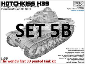 ETS35X01 Hotchkiss H39 - Set 5 option B - SA38 in Smooth Fine Detail Plastic