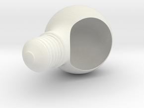 Plantpot in White Natural Versatile Plastic: Medium