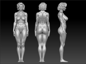 Fitness Girl Scale In 32mm in Frosted Extreme Detail