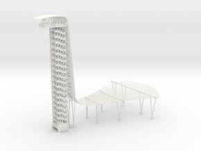 COTA Tower Circuit of the Americas - Austin Texas in White Natural Versatile Plastic