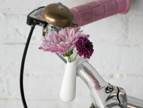 Bud Vase for your Bike in White Processed Versatile Plastic