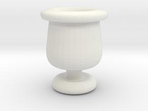 Mini Apothecary Pot - style 2 in White Natural Versatile Plastic