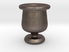 Mini Apothecary Pot - style 2 in Polished Bronzed Silver Steel
