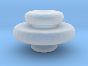 Mini Apothecary Pot Lid in Smooth Fine Detail Plastic