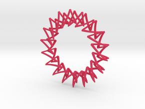 Necklace Escher in Pink Processed Versatile Plastic