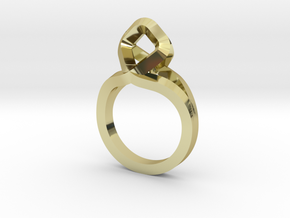 Sharp Rhythm Ring, us size 5 ,d=15,5 mm in 18k Gold Plated Brass: 5 / 49