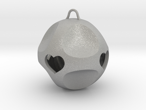 Ornament for Lovers with Hearts inside (large) in Aluminum