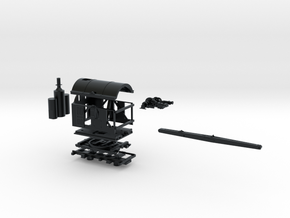 Z Scale Barnhardt Log Loader in Black Hi-Def Acrylate