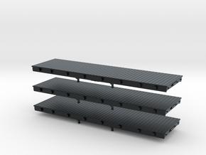 N Scale 30' Logging Flat Car in Black Hi-Def Acrylate