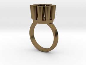 Lampadario Ring in Polished Bronze