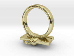 Die Antwoord 23 rat Ring Size 5.5 in 18k Gold Plated