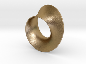 Minimal Mobius steel and aluminum (2¾ in) in Polished Gold Steel