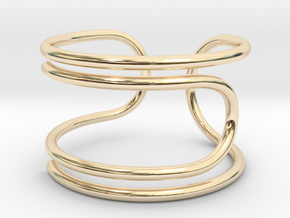 Paperclip Ring in 14K Yellow Gold: 4 / 46.5