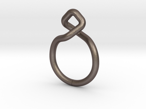 Dancing D.01, Ring US size 3, d=14mm  in Polished Bronzed Silver Steel: 3 / 44
