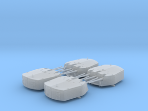 1/350 RN Triple 6 Inch MKXXIII Turrets (4) in Smoothest Fine Detail Plastic