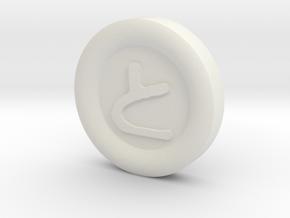 GUNGI game: Pawn+Gold 1x in White Natural Versatile Plastic
