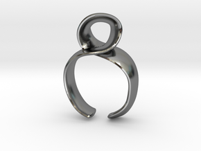 Noodle ring in Polished Silver