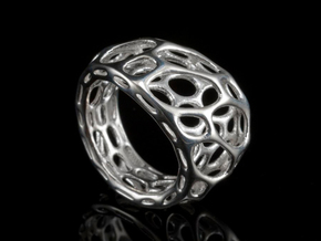 2-Layer Twist Ring in Polished Silver: 7 / 54