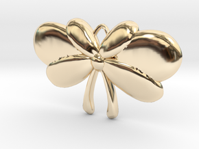 Ribbon Bow in 14k Gold Plated Brass