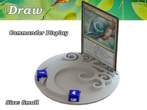 Commander Display Simic in White Natural Versatile Plastic: Small