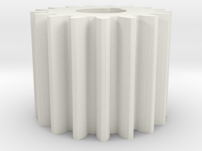 Cylindrical gear Mn=1 Z=17 AP20° Beta0° b=15 HoleØ in White Natural Versatile Plastic