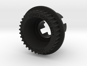 LHB 10mm 33T Wheel Pulley For ABEC Flywheels in Black Strong & Flexible