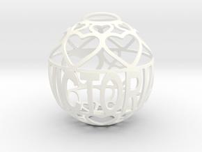 Victoria Lovaball in White Processed Versatile Plastic