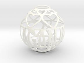 Laganja Lovaball in White Processed Versatile Plastic
