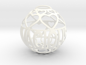 Vivacious Lovaball in White Processed Versatile Plastic