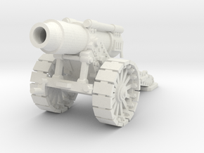 28mm Steampunk Heavy Mortar v.2 in White Natural Versatile Plastic