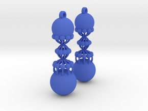Exclusiv Spiral Earring Model K in Blue Strong & Flexible Polished