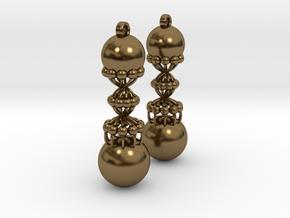 Exclusiv Spiral Earring Model K in Polished Bronze