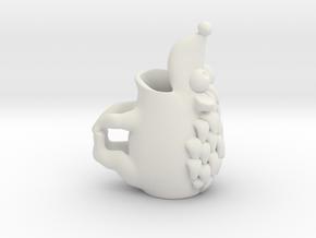 Hedgehog Mug in White Natural Versatile Plastic
