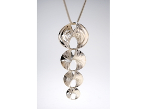 Hyperbole Chain Pendant in Polished Silver (Interlocking Parts)