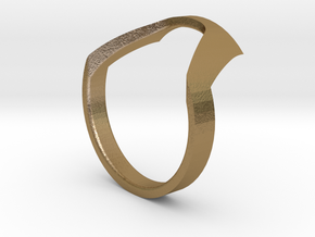 Static Ring - SIZE 8  in Polished Gold Steel