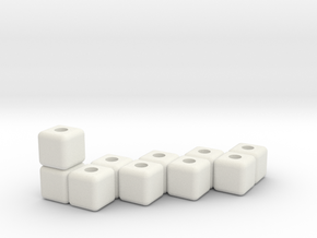Block menorah in White Natural Versatile Plastic