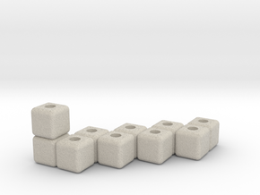 Block menorah in Natural Sandstone