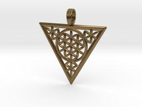 FLOWER OF RA in Natural Bronze