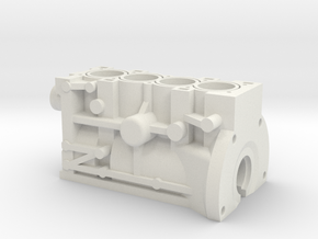 ScaledEngines_B18C-Block in White Natural Versatile Plastic