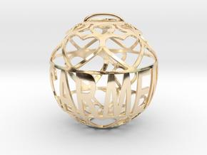 Carmen Lovaball in 14k Gold Plated Brass