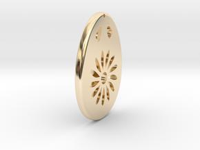 Earring Model M in 14k Gold Plated Brass