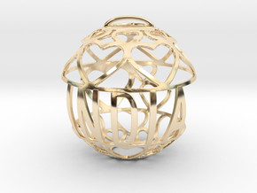India Lovaball in 14k Gold Plated Brass