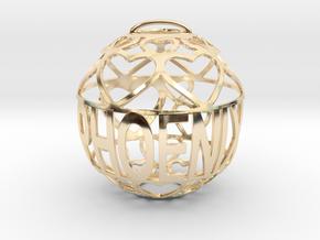 Phoenix Lovaball in 14k Gold Plated Brass