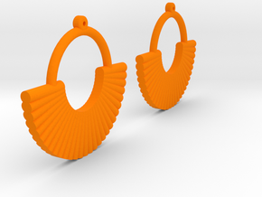 Earring Model M Pair in Orange Processed Versatile Plastic